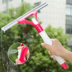 1 UNID Spray De Limpieza de Cepillo Limpiador De Vidrio Limpiador de Ventanas de Plástico Ventana de Coche de la Herramienta de máquina de Afeitar Limpia