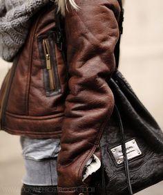 jacket + scarf + bag.