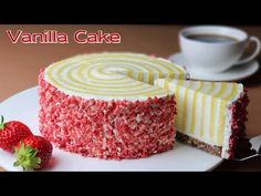 No Flour / Cup Measure / Moist Vanilla Cake Without Flour Recipe / Gluten Free Cake - YouTube Strawberry Vanilla Cake, Moist Vanilla Cake, Cupcake Cakes, Cupcakes, Basic Cake, Chocolate Sweets, Cake Recipes From Scratch, Just Cakes, Gluten Free Desserts