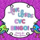 These cute little love birds will get your kids excited about reading CVC words in a fun Valentines themed Bingo game! (free!!)