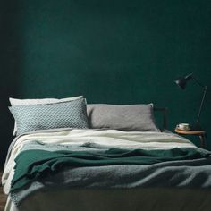 Get inspired with a color story featuring : forrest green inspirations. Check it out on the blog (bedroom image via Society Limonta)