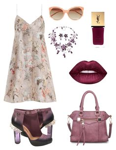 """""""Untitled #19"""" by rosapinki on Polyvore featuring Zimmermann, Linda Farrow, Chanel, Lime Crime and Yves Saint Laurent"""