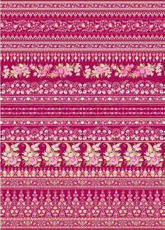 Designer Tapete Paisley Muster romantisches rosa | Tapeterie