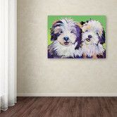 """Found it at Wayfair - """"Litter Mates"""" by Pat Saunders-White Painting Print on Canvas"""