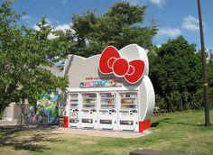 Japanese vending machine(kitty motif)