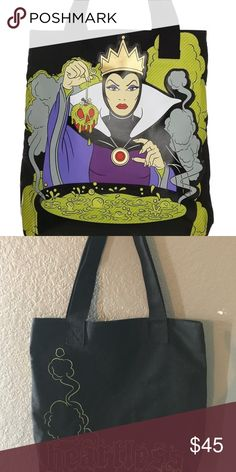 Lounge fly heartless Elvis with bag Disney Parks loungefly heartless evil with tote. Pre owned used once. Like new without tag Loungefly Bags Totes