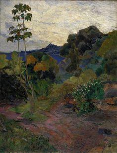 "Paul Gauguin, ""Martinique Landscape,"" 1887."
