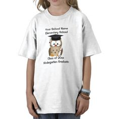 Custom Personalized Kindergarten Graduation T-Shirt, Wise Owl