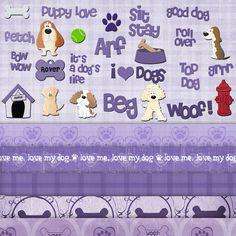 Good Dog  Digital Scrapbook Kit