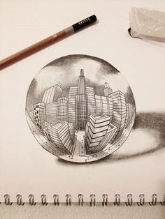 """"""" my drawing of a city in 5 point perspective 5 Point Perspective, Perspective Pictures, Perspective Drawing Lessons, Perspective Sketch, Pencil Drawings Of Girls, My Drawings, Drawing Lessons For Kids, Art Lessons, City Drawing"""