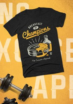 Fitness inspired t-shirts designed to motivate people to train harder and live healthier. noexcusesapparel.com