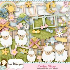 Kit Digital Cotton Sheep by Lu Ifanger - R$13,50 : Boutique do Scrap