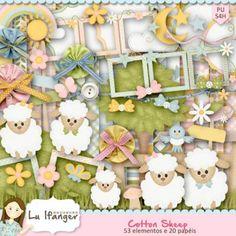 Kit Digital Cotton Sheep by Lu Ifanger - R$13,50 : Boutique do Scrap
