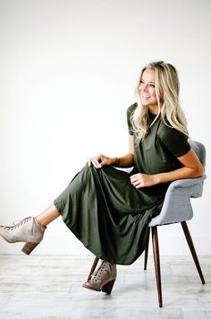 Olive Swing Dress | ROOLEE