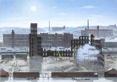 """""""Stockport Paper Mill Demolished"""" by Helen Clapcott."""