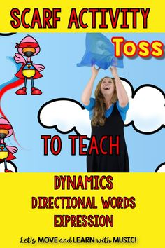 Did you know you can use scarves to teach dynamics? expression? math directional words? It's true. Get the tips in this blog post. by @singplaycreate Kindergarten Music Lessons, Preschool Music Activities, Teaching Music, Teaching Kids, Preschool Literacy, Movement Preschool, Movement Activities, Elementary Music, Elementary Education