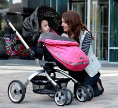 This stylish stroller easily converts from bassinet mode to a toddler seat, and also converts from forward to parent facing with one quick spin. It includes a large lower storage basket. find out more here: http://www.amazon.com/gp/product/B005NPFRPU/ref=as_li_ss_tl?ie=UTF8=1789=390957=B005NPFRPU=as2=bethtuttlecom-20