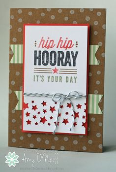Stampin Up! Confetti Stars Punch, Hip Hip Hooray Card Kit. by Amy O'Neill. Hip Hip Hooray for the Confetti Stars Punch. -- FMS149