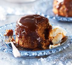 Indulgent yet wonderfully light these individual caramel sponges are baked with a sticky toffee sauce - keep in the freezer for a last-minute pud Pudding Recipes, Cake Recipes, Dessert Recipes, Dessert Ideas, Bbc Good Food Recipes, Sweet Recipes, Bbc Recipes, Amazing Recipes, Yummy Recipes