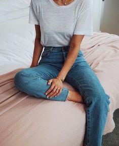jeans & tee.