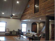 A House Like No Other. Corrugated Tin CeilingCorrugated ...