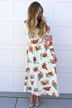 Every girl needs a few good maxi dresses, am I right? These dresses come in 16 styles, so you're bound to find at least a couple you can't live without! Looking for florals, solids, checks, or dots? We've got them all! And because we love our customers, we listened to your feedback and are offering extended sizes of these little beauties. These dresses have a zipper down the back that go below the waist and an elastic waistband making them super comfy and easy to get on and off.Our mod...