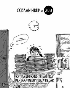 Komik Biebo: Cobaan Hidup by Komik Biebo Cartoon Jokes, Life Problems, San Andreas, Minions Quotes, Ig Story, New Quotes, Haha, Deep, Illustrations