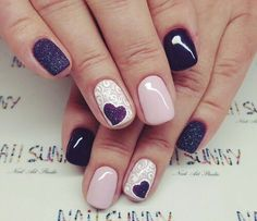 Beautiful delicate nails, Beautiful winter nails, Evening nails, Evening short nails, Heart nail designs, Ideas of beige nails, Manicure on the day of lovers, Perfect nails