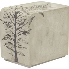 Rectangular Concrete Side Table - Contemporary Side & End Tables - Dering Hall