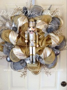 Exquisite Nutcracker Holiday Wreath by DazzlinDoorzbyKristi, $125.00