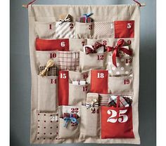 Kids' Holiday Decor: Christmas Advent Calendar in Calendars.I officially cannot ever forget our Advent Calendar now that it is being shipped! Homemade Advent Calendars, Diy Advent Calendar, Countdown Calendar, Calendar Ideas, Event Calendar, Christmas Countdown, Christmas Calendar, Christmas Projects, Christmas Holidays