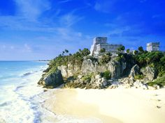 Wear your bathing suite when you visit the Tulum ruins - there is this beautiful beach to experience!  Tulum Beach - Mexico
