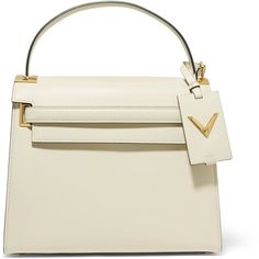 Valentino My Rockstud large leather tote (32.913.480 IDR) ❤ liked on Polyvore featuring bags, handbags, tote bags, valentino, ivory, white leather handbags, white leather tote, white leather tote bag, leather handbags and handbags totes