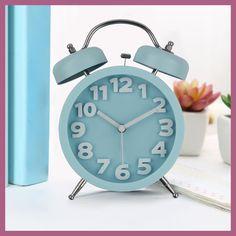 Candy Color Big Digitals Alarms Clock Modern Design Slient Desk Clock Quartz Despertador Reloj Madera with Wake Up Light