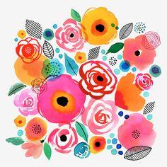 Margaret Berg Art: Flower+Gems