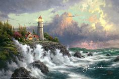 Thomas Kinkade - Conquering the Storms  1999