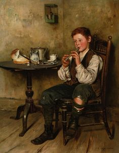 The Penny Whistle :: Charles Spencelayh