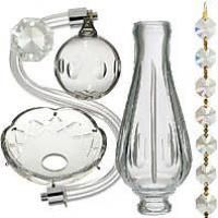 Crystal Chandelier Parts Prisms Antique Lamp Supply Crystal