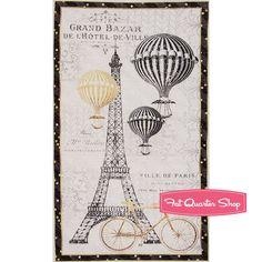 Tres Graphique Multi Eiffel Tower Quilt Panel <br/>SKU