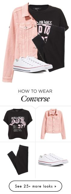 """Untitled #2689"" by laurenatria11 on Polyvore featuring H&M, American Eagle Outfitters and Converse"
