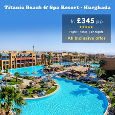 This #luxury #resort is Located on the beach in #Hurghada with big pool area with sun loungers & offers various sports & game activities for all age groups.  Reserve your stay at this hotel only with #homeandawayholidays  For more details call our Holiday Experts on 0116 237 2535 http://bit.ly/TitanicBeach_Hurghada
