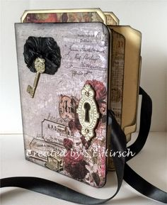 My Mindful Creations: Stationer's Desk Altered File Folder Mini Album Journal...created by S E Hirsch