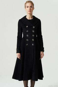 Red wool coat Princess coat winter coat red coat long wool | Etsy Red Wool Coat, Long Wool Coat, Fit And Flare Coat, Sweater Coats, Women's Coats, High Fashion, Fashion Women, Winter Fashion, Fashionable Snow Boots