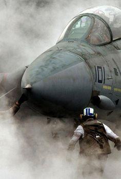 aircraft F 14 Tomcat in fire F14 Tomcat, Military Jets, Military Aircraft, Navy Aircraft, Fighter Aircraft, Fighter Jets, Photo Avion, Jet Plane, Aviation Art