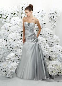 Platinum Silver Wedding Dress Bridesmaid Dress, Wedding Dressses, Satin, Gowns, Dresses, Court, Wedding Dress Styles, Silver Weddings, Trains
