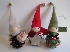 Etsy の 8 Pinecone Elf Tree Topper Christmas Ornament by kaniko