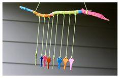 carillon à vent avec des clés colorées