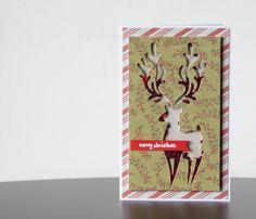 Vive, Crea, Scrapea: Tarjetas de Navidad. Ciervo