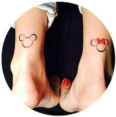 Small Tattoo Ideas- Mickey and Minni