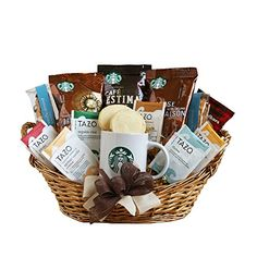 Starbucks Christmas Gift Sets are the best gifts for everyone who loves their visit to the nearby Starbucks store and coffee in general. Find the perfect Starbucks Xmas gifts. Starbucks Gift Baskets, Coffee Gift Baskets, Tea Gifts, Coffee Lover Gifts, Coffee Lovers, Gourmet Gifts, Gourmet Recipes, Teacher Appreciation, Gourmet Baskets